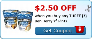 Rare Ben and Jerry's Ice Cream Coupons (Save As Much As $2.50!)