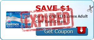 SAVE $1.00 on any ONE (1) Balmex Adult Care Rash Cream