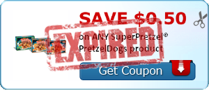 SAVE $0.50 on ANY SuperPretzel® PretzelDogs product