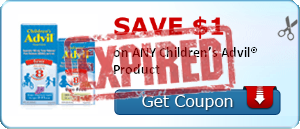SAVE $1.00 on ANY Children's Advil® Product