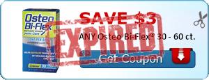 SAVE $3.00 ANY Osteo Bi-Flex® 30 - 60 ct.