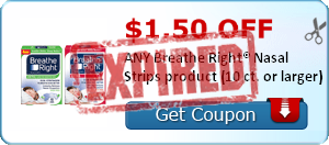 $1.50 OFF ANY Breathe Right® Nasal Strips product (10 ct. or larger)