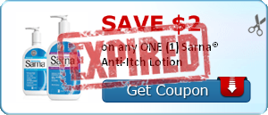 SAVE $2.00 on any ONE (1) Sarna® Anti-Itch Lotion