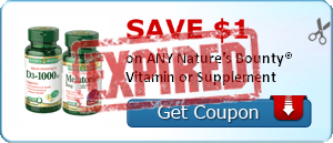 SAVE $1.00 on ANY Nature's Bounty® Vitamin or Supplement