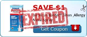 SAVE $1.00 on Sinus Buster® Sinus & Allergy Nasal Spray
