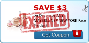 SAVE $3.00 on Dream or ANY MAYBELLINE® NEW YORK Face Product