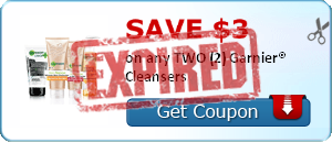 SAVE $3.00 on any TWO (2) Garnier® Cleansers