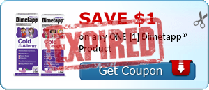 SAVE $1.00 on any ONE (1) Dimetapp® Product