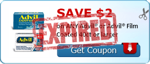 SAVE $2.00 on ANY Advil® or Advil® Film Coated 40ct or larger