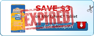 SAVE $3.00 on ANY Ester-C® Tablet