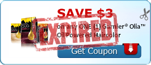 SAVE $3.00 on any ONE (1) Garnier® Olia™ Oil Powered Haircolor