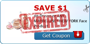 SAVE $1.00 on Dream or ANY MAYBELLINE® NEW YORK Face Product