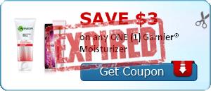 SAVE $3.00 on any ONE (1) Garnier® Moisturizer