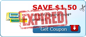 SAVE $1.50 on ANY Preparation H® product