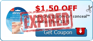$1.50 OFF any ONE (1) abreva® conceal™ product (6 or 12ct)