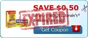 SAVE $0.50 on any TWO (2) Zatarain's® Breadings or Boils