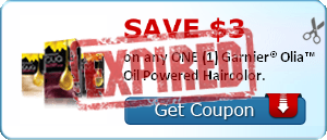 SAVE $3.00 on any ONE (1) Garnier® Olia™ Oil Powered Haircolor.