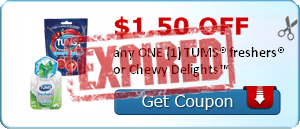$1.50 OFF any ONE (1) TUMS® freshers® or Chewy Delights™