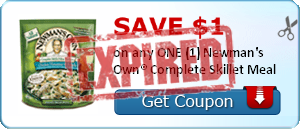 SAVE $1.00 on any ONE (1) Newman's Own® Complete Skillet Meal