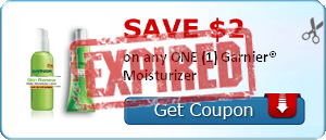 SAVE $2.00 on any ONE (1) Garnier® Moisturizer