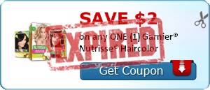 SAVE $2.00 on any ONE (1) Garnier® Nutrisse® Haircolor