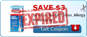 SAVE $3.00 on Sinus Buster® Sinus & Allergy Nasal Spray