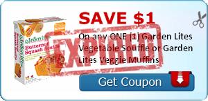 SAVE $1.00 On any ONE (1) Garden Lites Vegetable Souffle or Garden Lites Veggie Muffins