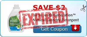 SAVE $2.00 on Seventh Generation™ Natural Laundry Detergent