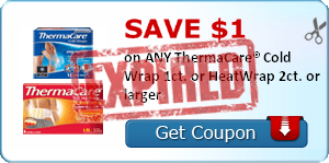 SAVE $1.00 on ANY ThermaCare® Cold Wrap 1ct. or HeatWrap 2ct. or larger