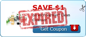 SAVE $1.00 on ANY Garnier® Clean Cleanser