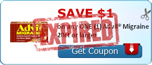 SAVE $1.00 on any ONE (1) Advil® Migraine 20ct or larger