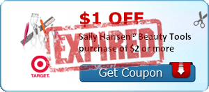 $1.00 OFF Sally Hansen® Beauty Tools purchase of $2 or more