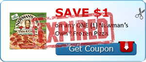 SAVE $1.00 on any ONE (1) Newman's Own® Frozen Pizza