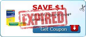 SAVE $1.00 on ANY Preparation H® product