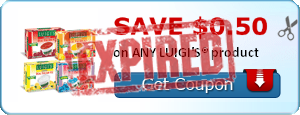 SAVE $0.50 on ANY LUIGI'S® product