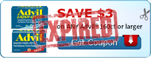SAVE $3.00 on ANY Advil® 160ct or larger