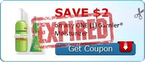 SAVE $2.00 on any ONE (1) Garnier® Moisturizer