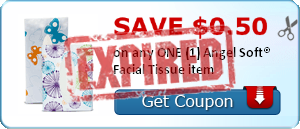 SAVE $0.50 on any ONE (1) Angel Soft® Facial Tissue item
