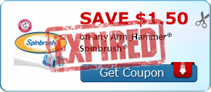 SAVE $1.50  on any Arm & Hammer® Spinbrush®