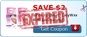 Save $2 off one (1) Veet® EasyWax Refill (any variety)