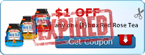 $1.00 off any one (1) box Red Rose Tea