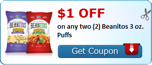 $1.00 off on any two (2) Beanitos 6oz. bags