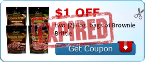 $1.00 off two (2) 4oz. bags of Brownie Brittle