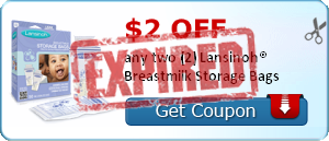 $2.00 off any two (2) Lansinoh® Breastmilk Storage Bags