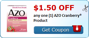 $1.50 off any one (1) AZO Test Strips® Product